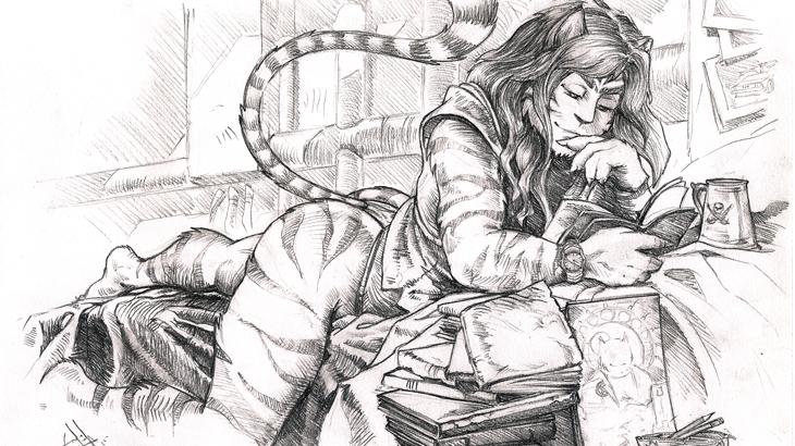 Serpieri Cat (Self Portrait)